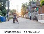 happy children riding on... | Shutterstock . vector #557829310