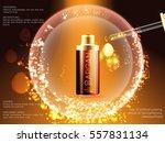 skin facial serum toner cream... | Shutterstock .eps vector #557831134
