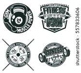 set of vintage t shirt graphic... | Shutterstock .eps vector #557833606