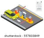 isometric parking payment...   Shutterstock .eps vector #557833849