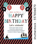 pirate happy birthday... | Shutterstock .eps vector #557836870