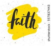 Faith Lettering. Hand Drawn...
