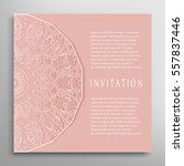 invitation or card template... | Shutterstock .eps vector #557837446