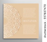invitation or card template... | Shutterstock .eps vector #557837470
