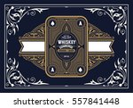 old card with vintage frame | Shutterstock .eps vector #557841448