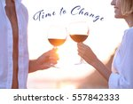 young couple drinking red wine... | Shutterstock . vector #557842333