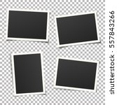 set of template photo frames... | Shutterstock .eps vector #557843266