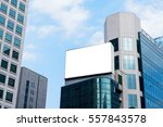 blank advertising billboard on... | Shutterstock . vector #557843578