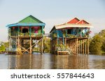 Floating Houses At Kampong...