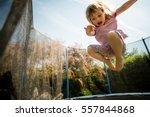 Child Jumping High On Big...
