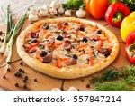 supreme pizza | Shutterstock . vector #557847214