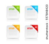 option numbered card set... | Shutterstock .eps vector #557848420