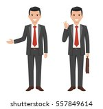 vector illustration of a young... | Shutterstock .eps vector #557849614