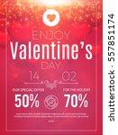 happy valentine's day poster.... | Shutterstock .eps vector #557851174