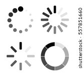set loading icons. load. load... | Shutterstock .eps vector #557851660