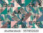 abstract seamless pattern with... | Shutterstock .eps vector #557852020