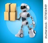 robot   3d illustration | Shutterstock . vector #557856949