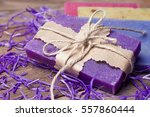 collection of handmade  natural ... | Shutterstock . vector #557860444