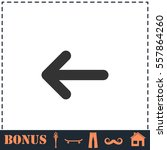 arrow icon flat. simple vector...