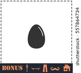 egg vector icon flat. simple...