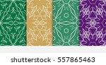 set of decorative floral...   Shutterstock .eps vector #557865463
