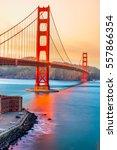 golden gate bridge in san...   Shutterstock . vector #557866354