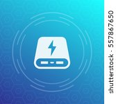 power bank vector icon   Shutterstock .eps vector #557867650