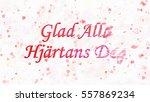 happy valentine's day text in... | Shutterstock . vector #557869234