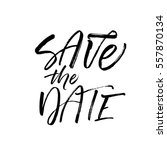 save the date postcard.... | Shutterstock .eps vector #557870134