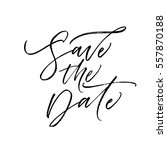 save the date postcard. wedding ... | Shutterstock .eps vector #557870188