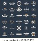 vintage logos design templates... | Shutterstock .eps vector #557871193