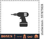 drill icon flat. simple vector... | Shutterstock .eps vector #557875828