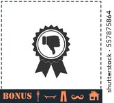 not recommended award icon flat.... | Shutterstock .eps vector #557875864