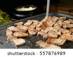 fresh pork belly bbq | Shutterstock . vector #557876989