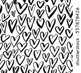 seamless pattern with hearts.... | Shutterstock .eps vector #557878426