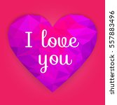 valentine day. heart. happy...   Shutterstock .eps vector #557883496