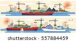 set vector illustration header... | Shutterstock .eps vector #557884459