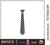 tie icon flat. simple vector... | Shutterstock .eps vector #557886289