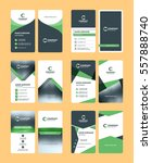 vertical double sided business... | Shutterstock .eps vector #557888740