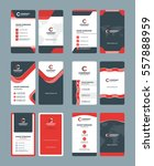 vertical double sided business... | Shutterstock .eps vector #557888959