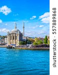 ortakoy mosque and bosphorus... | Shutterstock . vector #557889868