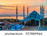 the blue mosque   sultanahmet... | Shutterstock . vector #557889964