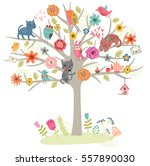Birds And Cats On The Tree....