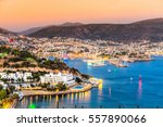 view of bodrum castle and... | Shutterstock . vector #557890066
