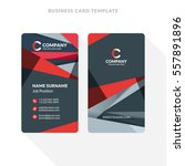 vertical double sided business... | Shutterstock .eps vector #557891896