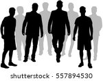 black silhouette of a man. | Shutterstock .eps vector #557894530