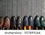 leather men's shoes | Shutterstock . vector #557895166