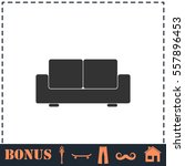 sofa icon flat. simple vector... | Shutterstock .eps vector #557896453