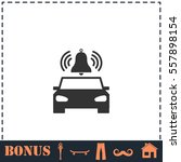 car alarm icon flat. simple... | Shutterstock .eps vector #557898154
