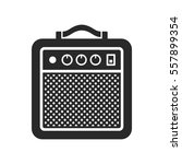 amplifier icon on white... | Shutterstock . vector #557899354